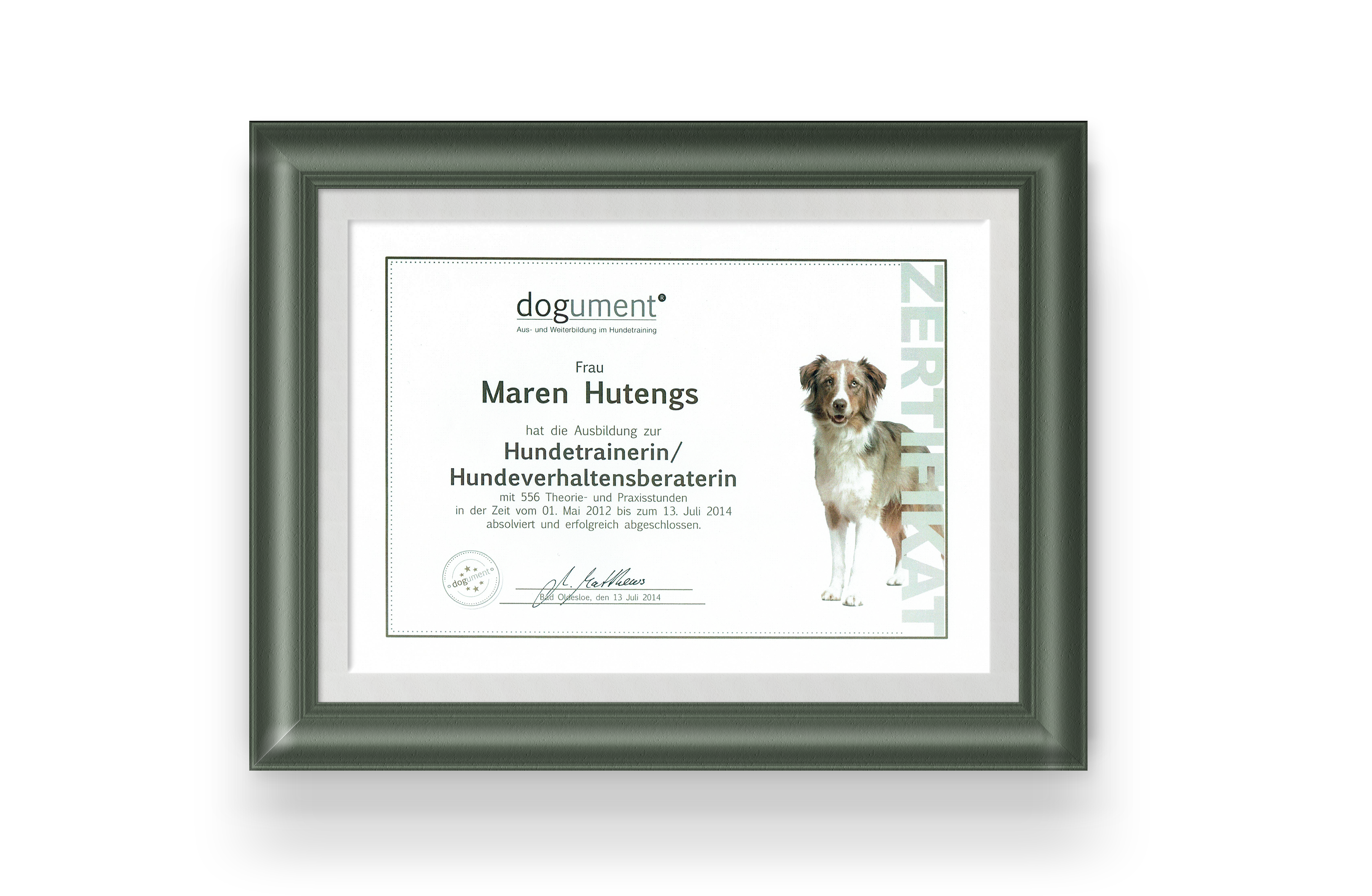 Hundeclique_Frame-Zertifikat